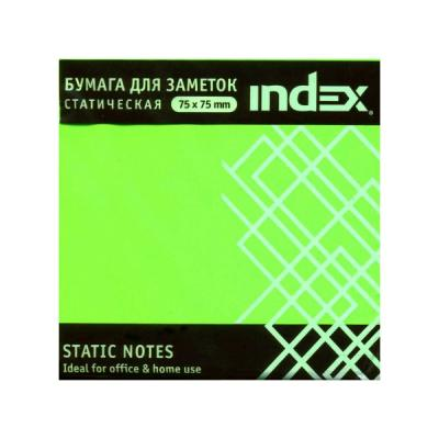 Блок бумажный Index 100 листов 75х75 мм зеленый 4680291031288