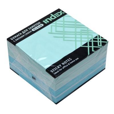 Бумага с липким слоем Index 450 листов 76x76 мм голубой 4680291040921