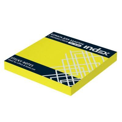Бумага для заметок с липким слоем, разм. 76х76 мм, неоновая желтая, 100 л.|1 неоновая продукция yht 1m 1 5