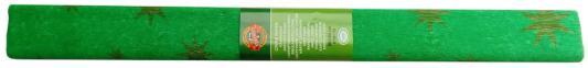 Креп-бумага Koh-I-Noor, зеленая с золотыми звездами, 2000х500 мм i 40