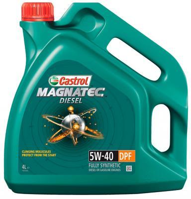 Cинтетическое моторное масло Castrol Magnatec 5W40 4 л CAS-MAGN-5W40DPF-4L моторное масло premium dpf diesel engine oil 5w 30 для дизельных двигателей 6л