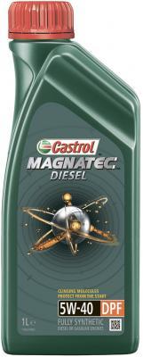 Cинтетическое моторное масло Castrol Magnatec 5W40 1 л CAS-MAGN-5W40DPF-1L моторное масло premium dpf diesel engine oil 5w 30 для дизельных двигателей 6л