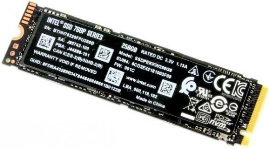 Твердотельный накопитель SSD M.2 256 Gb Intel SSDPEKKW256G8XT Read 3210Mb/s Write 1315Mb/s TLC