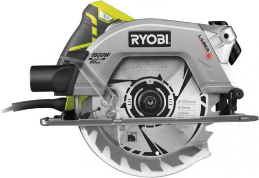 Циркулярная пила Ryobi RCS1600-K 1600 Вт 190мм пила циркулярная ryobi rcs1600 k 220в 1600вт d 190мм посадка диска 16мм 5000об мин 3 7 кг кейс