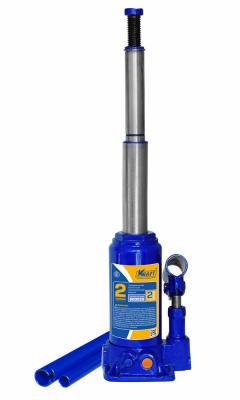 Домкрат KRAFT КТ 800026 телескопический бутылочный 2тя высота165-410мм ход штока98/92мм смартфон