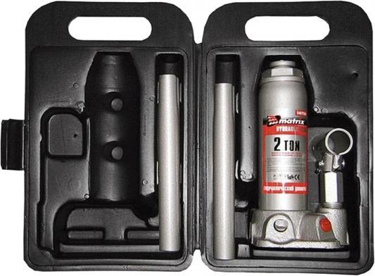 все цены на Домкрат MATRIX 50750 бутылочный 2т h подъема 181–345мм в пласт. кейсе онлайн