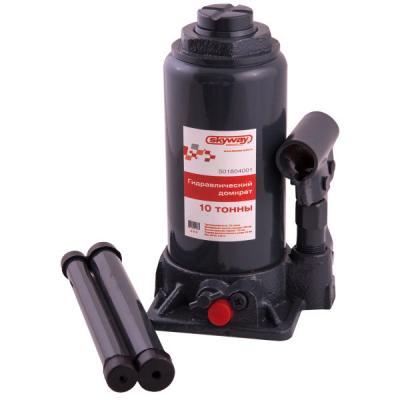 Домкрат SKYWAY 88410 гидравлический бутылочный 10т 200-385мм с клапаном в коробке коврики автомобильные skyway s01702038