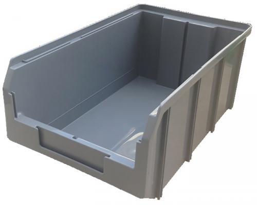 Ящик СТЕЛЛА V-3 9,4 литр, серый  пластик 341х207х143мм