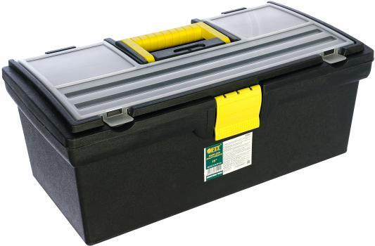Ящик для инструмента FIT 65501 пластиковый 16 (40,5x21,5x16см) ящик для инструмента с металлическими замками 16 175х210х410мм stels россия 90711