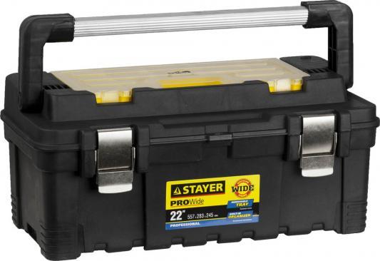 Ящик STAYER 38003-22 пластиковый для инструмента 557x283x245мм 22 цены