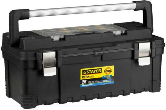 цены Ящик STAYER 38003-26 пластиковый для инструмента 656x285x270мм 26