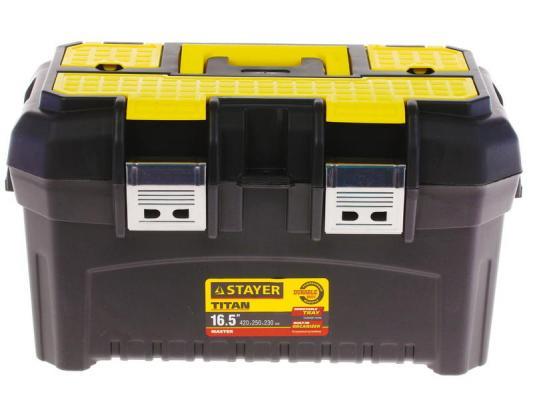 Ящик STAYER 38016-16 пластиковый для инструмента 420x250x230мм 16 цены