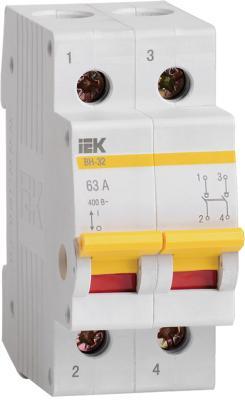 Выключатель нагрузки ИЭК ВН 2п 40А ВН-32 MNV10-2-040 выключатель нагрузки мини рубильник tdm вн 32 4p 100a sq0211 0039