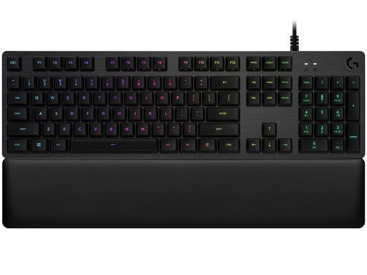 Клавиатура проводная Logitech G513 USB черный 920-008868 920 008868 клавиатура logitech rgb mechanical gaming keyboard g513 tactile switch