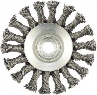 Щетка EDGE by PATRIOT тарельчатая 115ммХМ14 витая проволока