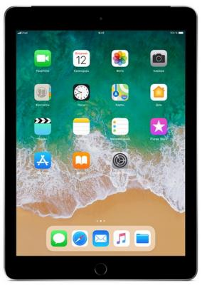 Планшет Apple iPad 9.7 128Gb Space Gray Wi-Fi Bluetooth iOS MR7J2RU/A умные часы apple watch series 3 38mm grey space with black sport band mqkv2ru a