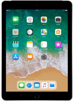 Планшет Apple iPad 9.7 128Gb Space Gray 3G Wi-Fi Bluetooth LTE iOS MR722RU/A планшет планшет lenovo tab 4 tb 7504x za380087ru mediatek mt8735b 1 3 ghz 2048mb 16gb gps 3g lte wi fi bluetooth cam 7 0 1280x720 android