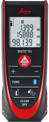 купить Дальномер лазерный Leica DISTO D2 NEW дальность 0.05-100м точность +1.5мм +чехол онлайн