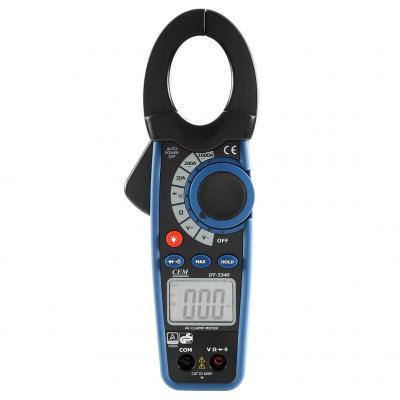 Клещи токоизмерительные CEM DT-3340 профессиональные, с функциями мультиметра токоизмерительные мини клещи cem fc 35 600в фонарик