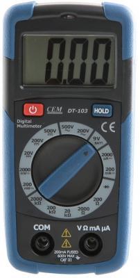 Мультиметр цифровой СЕМ DT-103 карманный тестер хуа шенгчанг сем dt 968 мониторинг качества воздуха в помещении приборов лазерного бытового рм2 5 тест мутности инструмент