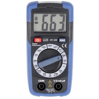 Мультиметр цифровой СЕМ DT-105 карманный тестер мультиметр ресанта dt 890 b