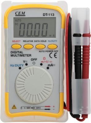 Мультиметр цифровой СЕМ DT-113 карманный, ЖК-экран цена