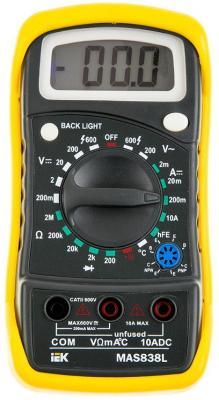 Мультиметр IEK Master MAS838L цифровой мультиметр цифровой tek dt9208a цифровой