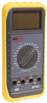 Мультиметр IEK Professional MY62 цифровой мультиметр мастер professional m393