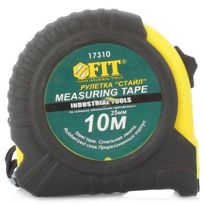 Рулетка Fit Стайл 10мx25мм 17310 рулетка topex 27c310 10мx25мм