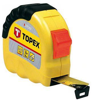 Рулетка TOPEX 27C305 5мx19мм головка topex 38d730