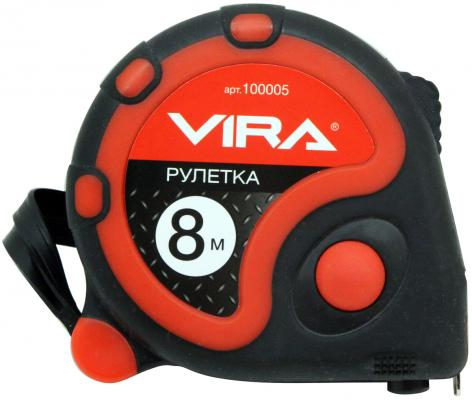 Рулетка Vira 100005 8мx25мм рулетка vira 8мx25мм с нейлоновым покрытием