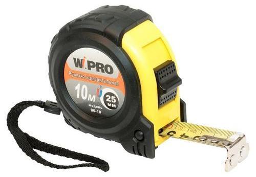 Рулетка WIPRO 06-10 10мx25мм рулетка wipro 062 10