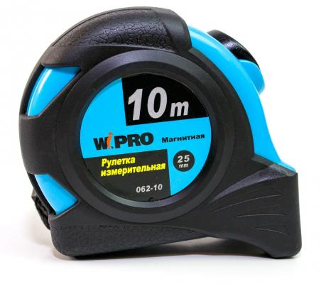 Рулетка WIPRO 062-10 автостоп 10мх25мм рулетка wipro 062 10