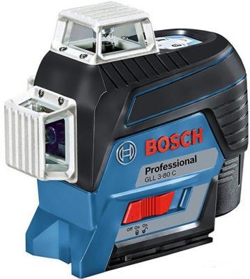 Уровень BOSCH GLL 3-80C+BM1+12V+L-boxx (0.601.063.R02) 30м с приемником: 120м ±0.2мм/м <4с 4° 360° rainford rbн 7604 bm1 black