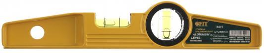 Уровень FIT 18591 Хард мини 250мм, литой, усиленный, противоударный, 2 глазка противоударный телефон