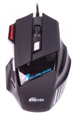 Мышь проводная Ritmix ROM-345 чёрный USB цены