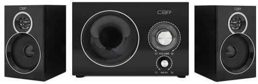 Колонки CBR CMS 743 6+2x3 Вт черный