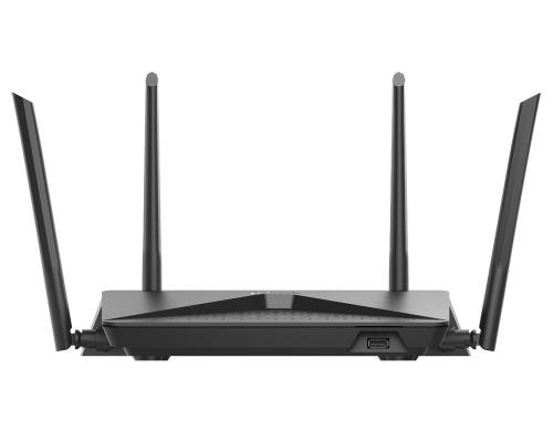 Беспроводной маршрутизатор D-Link DIR-882 802.11abgnac 2530Mbps 2.4 ГГц 5 ГГц 4xLAN USB черный беспроводной маршрутизатор d link dir 882 ru a1a 802 11abgnac 2530mbps 2 4 ггц 5 ггц 4xlan usb черный