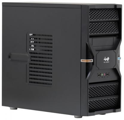 Корпус microATX InWin ENR036BL Без БП чёрный серебристый 6120741 цена