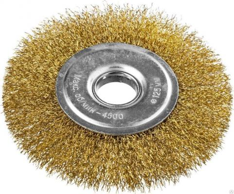 Кордщетка DEXX 35101-125 дисковая для УШМ витая сталь0.3мм 125мм/22мм