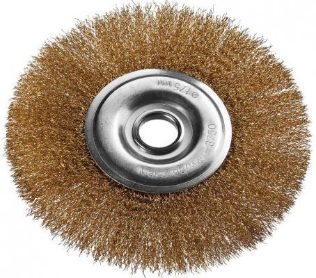 Кордщетка DEXX 35101-175 дисковая для УШМ витая сталь0.3мм 175мм/22мм кордщетка dexx 35110 100 дисковая со шпилькой витая сталь0 3мм d100мм