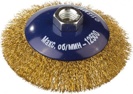 цена на Кордщетка DEXX 35105-115 коническая М14 для УШМ витая сталь0.3мм d115мм