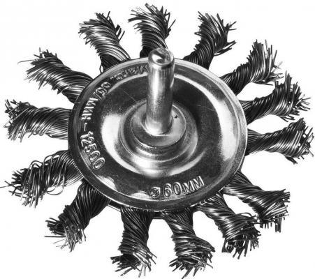 Кордщетка DEXX 35108-075 дисковая со шпилькой жгутированные пучки сталь0.5мм d75мм mitsui 15х15см 24 21 075