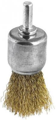 Кордщетка Hammer Flex 207-210 25мм d6  тип венчик латунированная, из волнистой проволоки