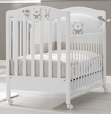 Кроватка Erbesi Pongo (белый/белый)