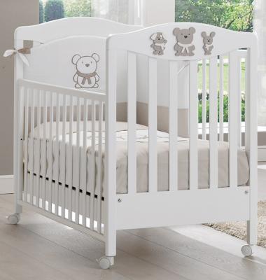 Кроватка Erbesi Pongo (белый/песочный)