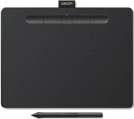 Графический планшет Wacom Intuos M Bluetooth CTL-6100WLK-N Bluetooth/USB черный цена и фото