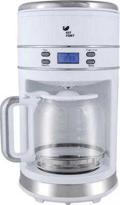 Кофеварка KITFORT KT-704-1 1000 Вт белый кофеварка kitfort kt 702 1100 вт черный