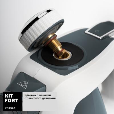 Пароочиститель KITFORT KT-918-2 1000Вт серый, , Пароочистители