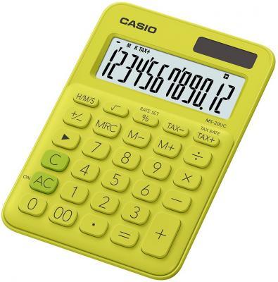 Калькулятор карманный CASIO SL-310UC-YG-S-EC 10-разрядный желтый/зеленый калькулятор карманный casio hl 820lv 8 разрядный